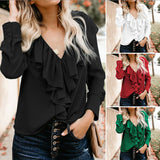 Ladies Long Sleeve Ruffle Blouse  **Heavily Discounted**