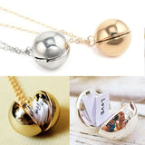 Locket Friendship Necklace With Hidden Message Inside Black Friday Special