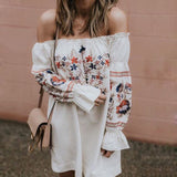 Olivia Off Shoulder Floral Long Sleeve Tunic