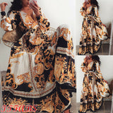 UK Womens Boho Long Dresses Ladies Summer Beach Floral Maxi Dress Uk Size 6 - 20