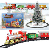 Deluxe Festive Toy Train Express  Track Set Track With Light & Sound