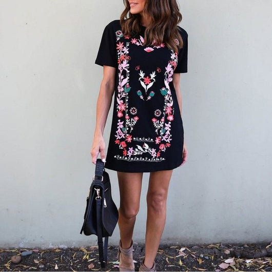 Stylish Printed Shirt Dress
