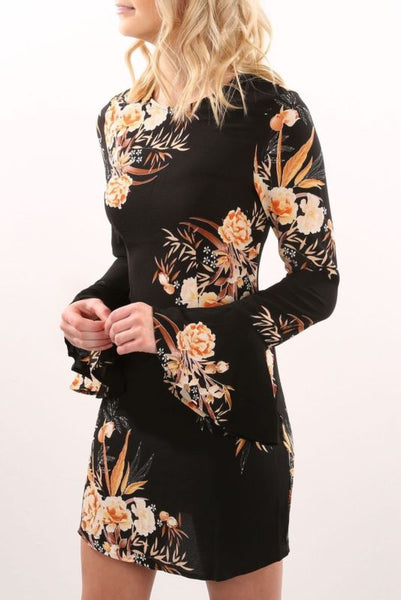 Lara Long Sleeve Floral Dress