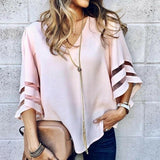 Elsie Casual V-Neck Blouse