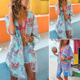 Womens Summer Beach Wear  Top Bikini Cover Up Kaftan Ladies Chiffon Sun Dress
