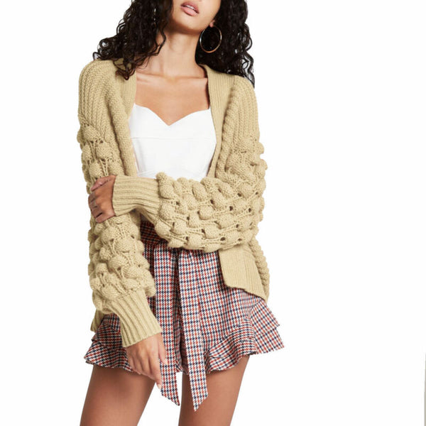 Elsie Bobble sleeve Knitted Cardigan