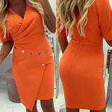 UK Womens Summer OL Office Formal Party Pencil Dress Ladies Work Bodycon Dresses