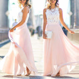 New Women Full Dress Lace Maxi Chiffon Sundress Long Evening Party Cocktail