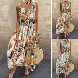 Ladies Dress Women's Vacation Summer Dress Retro Fashion Loose Maxi Printed