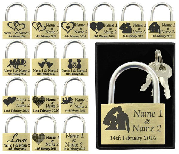 Valentines Gift / Wedding Present 40mm Love Lock Personalised Engraved Padlock