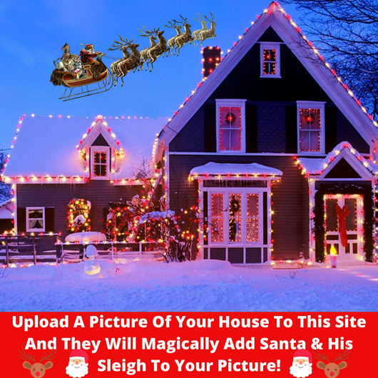 Magic Santa On Your Rooftop House
