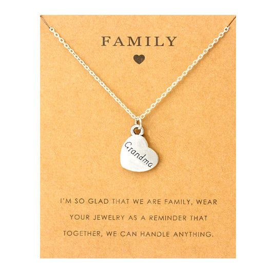 Mom Grandma Aunt Sister Uncle Daughter Necklace Grandpa Dad Father Brother Son Family Pendants Necklaces Fashion Jewelry Gift