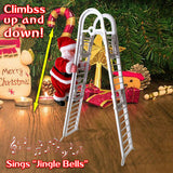 Electric Climbing Ladder Santa Claus