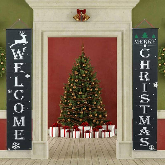 Merry Christmas Hanging Door Banner