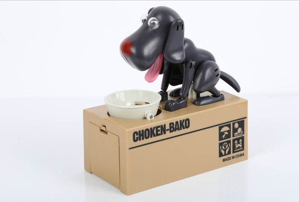 Puppy Eating Money Bank