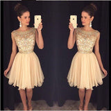 beaded See through Sexy homecoming prom dresses, CM0011