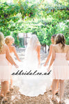 Sweet Heart Bridesmaid Dress, Dress for Wedding, Chiffon Backless Bridesmaid Dress, KX115