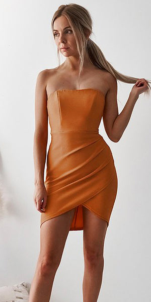 New Arrival Sheath Straight Neckline Jersey Sexy Backless Homecoming Dress, KX1523