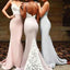 Sexy Mermaid Sweet Heart Open Back Lace Inexpensive Long Bridesmaid Dresses, WG07