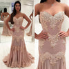 Charming Sweet Heart Lace Prom Dress, Mermaid Applique Backless Prom Dress, KX171