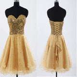 Gold Sequin sweetheart sparkly Rehearsal sweet 16 casual homecoming prom gowns dress,BD00188