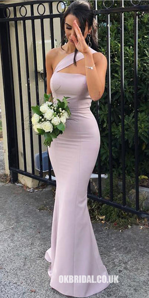 Mermaid One-Shoulder Backless Sexy Long Bridesmaid Dress, FC2035