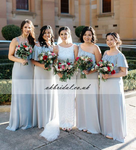 Mismatched Bridesmaid Dresses Cheapest Chiffon Bridesmaid Gowns Kx234