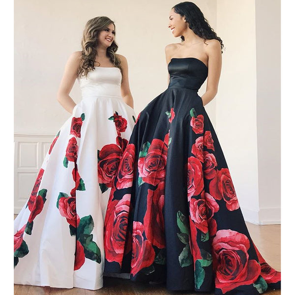 Charming A-line Sweetheart Backless Satin Prom Dress with Pockets, FC2395