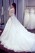 A Line Lace Crystal A line  Luxurious Long Custom Wedding Gowns, Affordable Bridal Dresses, 17112