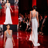 Deep V Neck Sexy Formal Simple A Line Elegant Cheap Long Evening Prom Dress, WG267