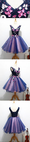 2017 Two Straps V Neckline Cute Homecoming Prom Dresses, Affordable Short Party Prom Dresses, Perfect Homecoming Dresses, 220028
