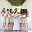 Popular Junior Lace Short Elegant Cheap Wedding Bridesmaid Dresses, WG340