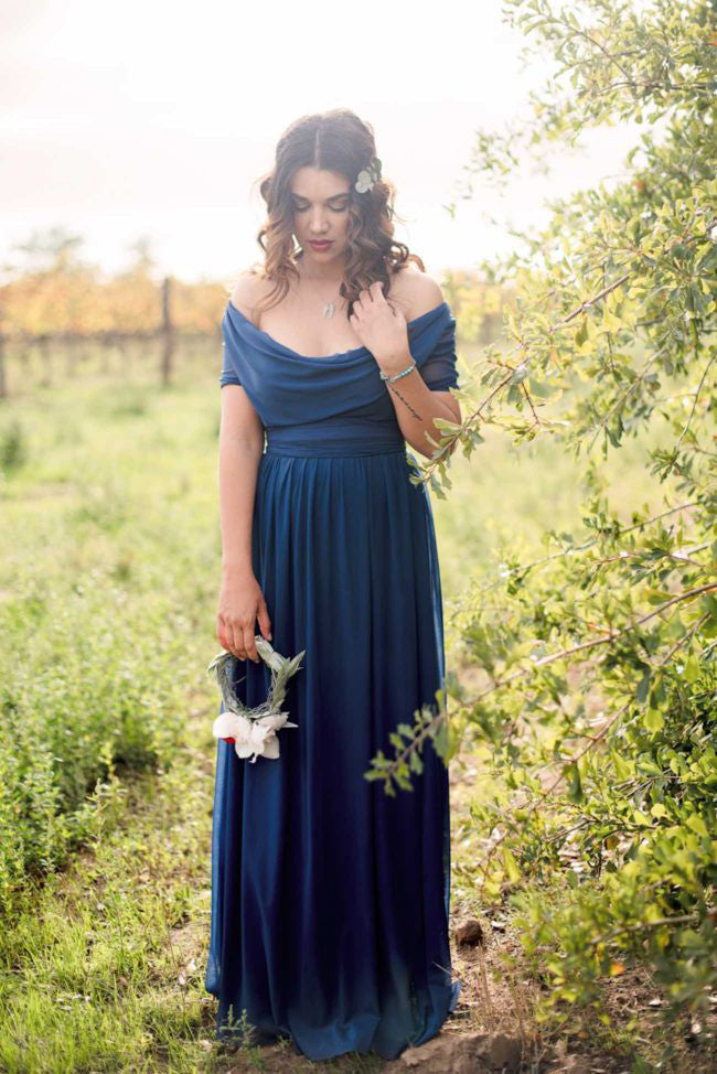 Off Shoulder Long Charming Wedding Bridesmaid Dresses, WG343