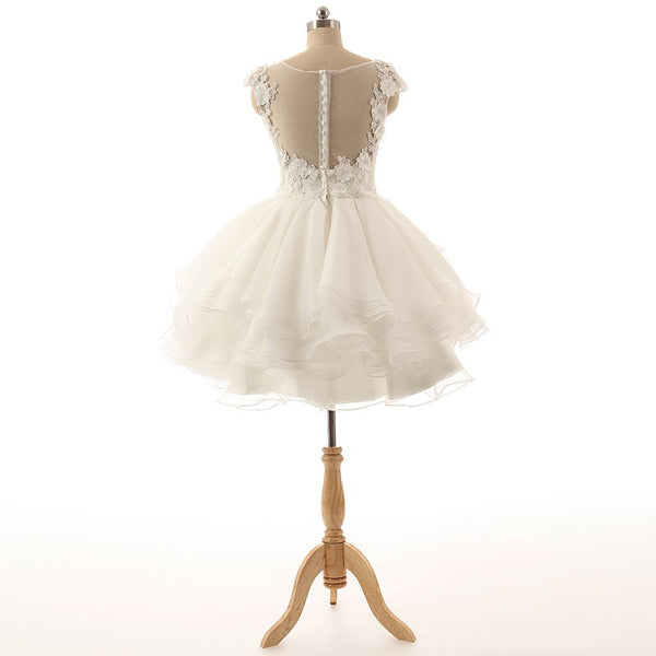 Tulle Homecoming Dress, Sleeveless Applique Junior School Dress, Sequin Homecoming Dress, LB0360