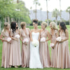 Cheap Convertible Jersey Elegant Long Wedding Bridesmaid Dresses, WG369