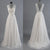 Best Sale Vantage V-Back Lace Top Simple Design Wedding Party Dresses, WD0036