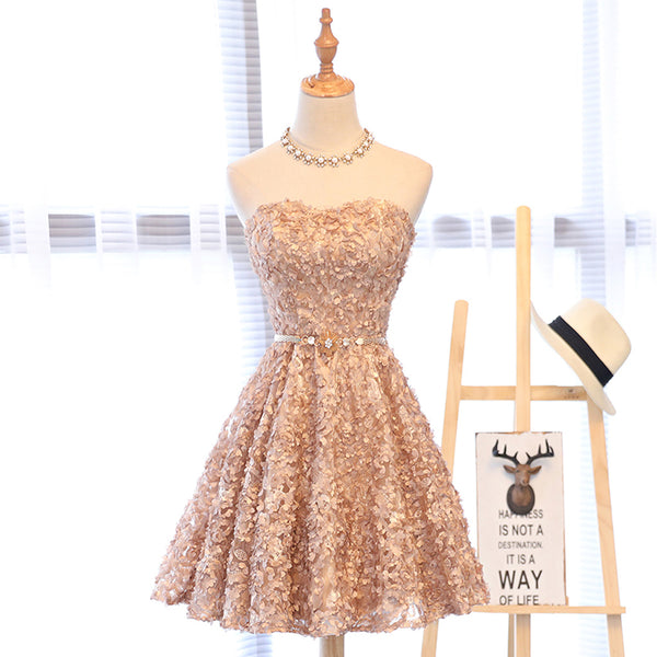 Short Homecoming Dress, Tulle Homecoming Dress, Knee-Length Homecoming Dress, Applique Junior School Dress, Sleeveless Homecoming Dress, Sweet Heart Homecoming Dress, LB0387