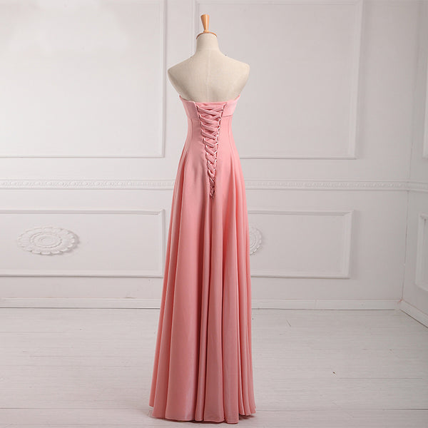 Long Bridesmaid Dress, Sweet Heart Bridesmaid Dress, Satin Bridesmaid Dress, A-Line Dress for Wedding, Backless Bridesmaid Dress, Floor-Length Bridesmaid Dress, LB0394