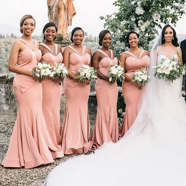 Sexy Mermaid Backless Sweetheart Floor-Length Bridesmaid Dress, FC3968