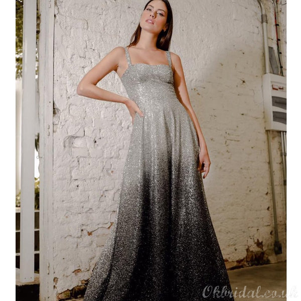 Newest Sequin Sparkly A-line Backless Gradual Prom Dress, FC3997