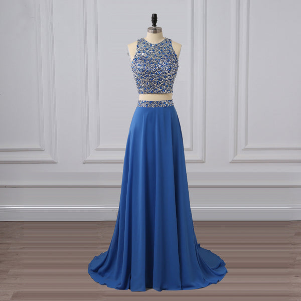 Long Prom Dresses, Chiffon Prom Dresses, Two Pieces Prom Dresses, Sequin Evening Dresses, Rhinestone Prom Dresses , Floor-Length Prom Dress, Sexy Party Dress, LB0408