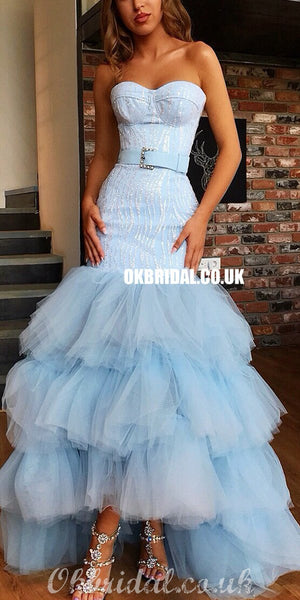 Sweetheat High-low Sexy Mermaid Backless Tulle Prom Dresses, FC4131