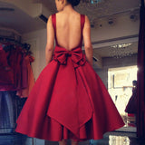 Short Homecoming Dress, Satin Homecoming Dress, Sleeveless Homecoming Dress, Backless Junior School Dress, Sexy Graduation Dress, LB0443