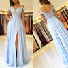 Cheap Chiffon Prom Dress, Applique Backless Prom Dress, KX446-1