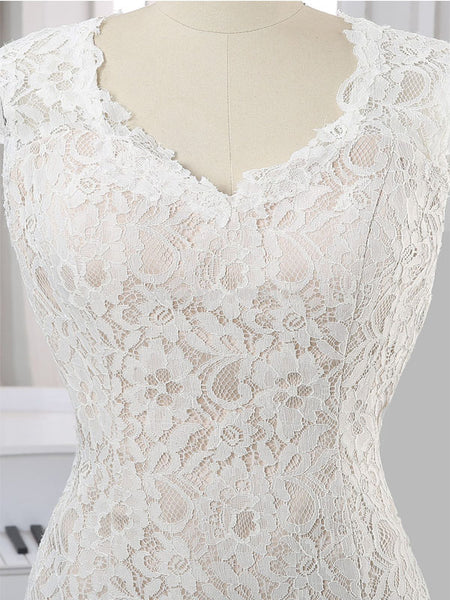 Long Wedding Dress, Lace Wedding Dress, Mermaid Bridal Dress, Open-Back Wedding Dress, Sleeveless Wedding Dress, Simple Wedding Dress, Sexy Wedding Dress, LB0450