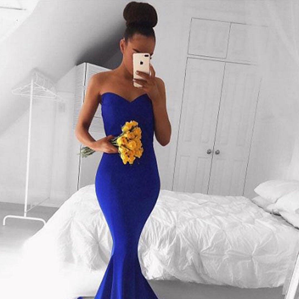 Long Prom Dresses, Jersey Prom Dresses, Mermaid Party Dresses, Sweet Heart Evening Dresses, Sleeveless Prom Dresses , Sexy Prom Dresses, LB0462