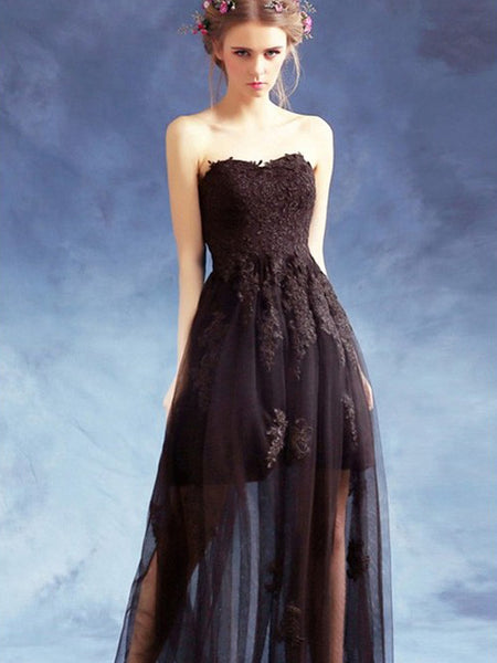 Long Prom Dresses, Tulle Prom Dresses, A-Line Party Dresses, Lace Evening Dresses, Sweet heart Prom Dresses , Applique Prom Dresses, See Through Prom Dress, LB0492