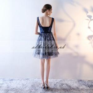 Cheap Sleeveless Homecoming Dress, Tulle Lace Knee-Length Homecoming Dress, KX520