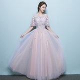 Tulle Prom Dresses, A-Line Party Dresses, Applique Charming Prom Dress, LB0521