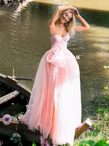 Charming Sweetheart Tulle A-line Backless Prom Dress , FC5323